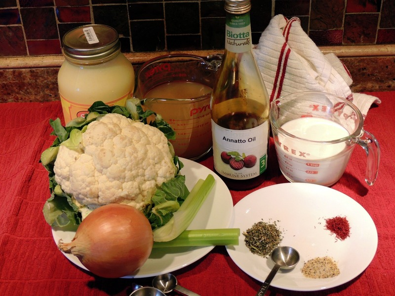Cream of Cauliflower Soup with Saffron & Annatto Oil ...