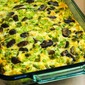 Mushroom, Green Pepper, and Feta Breakfast Casserole (Low-Carb, Gluten-Free, Meatless)