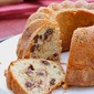 chocolate chip bundt cake in caroll's garden