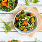 Roasted Butternut Squash Salad with Sriracha Lime Dressing Recipe