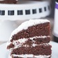 Chocolate Cabernet Cake with Vanilla Bean Buttercream