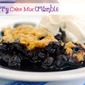 Blueberry Cake Mix Crumble-