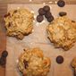 Flour-less Oatmeal, Peanut Butter & Dark Chocolate Cookie