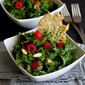 Kale Salad with Raspberries and Parmesan Crisps