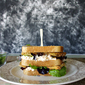 Fried Green Tomato and Pimento Cheese Double Stacker