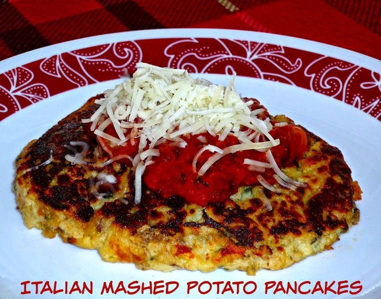 ... Leftovers #SundaySupper...Featuring Italian Mashed Potato Pancakes