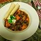 Black Bean Sweet Potato Chili with Charred Beef