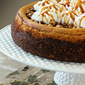 Brown Sugar Pumpkin Cheesecake with Bourbon and Toasted Walnuts