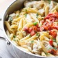 One Pan Chicken Pasta with Chardonnay Wine Sauce