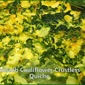 Crustless Spinach-Cauliflower Quiche