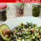 Simple Party Salad: Black Bean and Avocado Starter