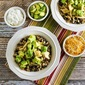 Slow Cooker Green Chile Chicken Cauliflower Rice Burrito Bowl (Low-Carb, Gluten-Free)