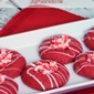 Red Velvet Peppermint Thumbprints