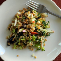 apple farro salad