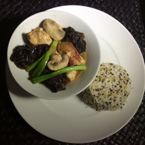 Thai Ginger Chicken With Mushrooms and Black Fungi Recipe by Rene ...