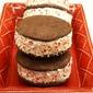 Chocolate Mint Cookie Ice Cream Sandwiches with White Chocolate Ice Cream