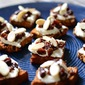 Brandied Raisin and Ricotta Crostini Bites