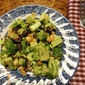 Broccoli Salad, dressed with curry, a festive foods rewind