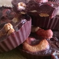 Dark Chocolate Trail Mix Rounds