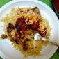 Chorizo-Stuffed Poblanos with Dried-Chile Sauce