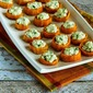 Sweet Potato Appetizer Bites with Feta and Green Onion (Gluten-Free, Meatless)