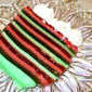 Dazzling Red & Green Layered Gelatin Dessert