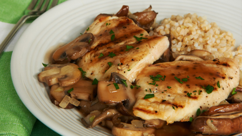 Griiled Chicken With Marsala Amp Mixed Mushrooms Recipe By