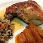 Roast Duck Legs With Honey, Vinegar And Caramelized Apples