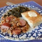 BAKED BLACK-EYED PEAS AND SMOKED SAUSAGE