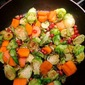 Brussels Sprouts with Pomegranate and Persimmons