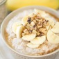 Banana Oatmeal with Maple and Walnuts