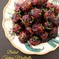 Baked Turkey Meatballs in a Berry BBQ Sauce