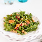 Pomegranate, Clementine, Herbed Chickpea & Arugula Salad