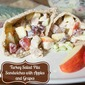 Sweet Turkey Salad Pita Sandwiches with Apples and Grapes