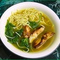 Chinese Barbecue Chicken Soup with Noodles.