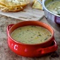 Chiles Rellenos Chowder with Fried Tortillas Con Huevos