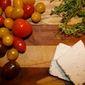 Seared Tomatoes with Feta, Oregano & Olives