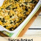 Twice-Baked Spaghetti Squash with Kale, Feta, and Mozzarella (Low-Carb, Gluten-Free, Meatless)