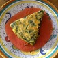 Summer Food - Flan of Green herbs with Raw Tomato Sauce