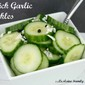 Quick Garlic Pickles