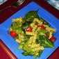 Rotini with Pesto, Tomatoes and Spinach