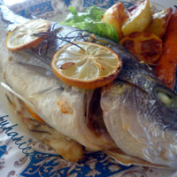 Oven baked gilt-head bream