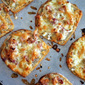 cheesy bacon toasts