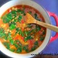 Spiced Red Lentil, Tomato, and Spinach Soup