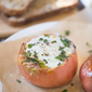 Heirloom Tomatoes with Baked Eggs