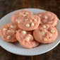 Strawberry Cookies with White Chocolate