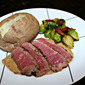 NY Strip Steaks with Peppercorn Cream Sauce