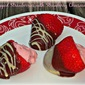 Double-Dipped Strawberries with Strawberry Cheesecake Filling...Featuring Driscoll's Long-Stemmed Strawberries #ValentinesDay