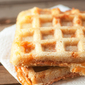 Waffle Iron Barbecue Chicken Sandwich