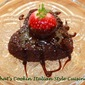 Nutella Heart Brownie with Frangelico Hot Fudge Sauce